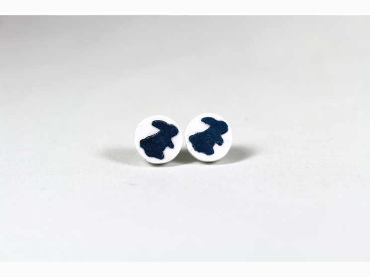 handmade earrings, colorful bunny, handmade in chicago, made in chicago