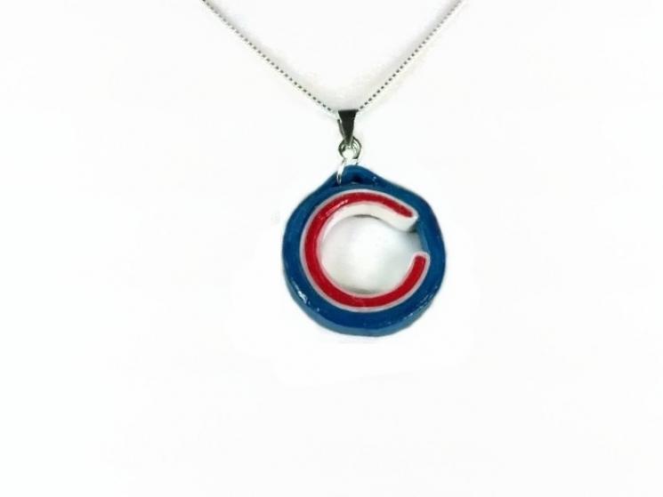 Chicago necklace, Chicago jewelry, Chicago C necklace, c necklace, Chicago Cubs
