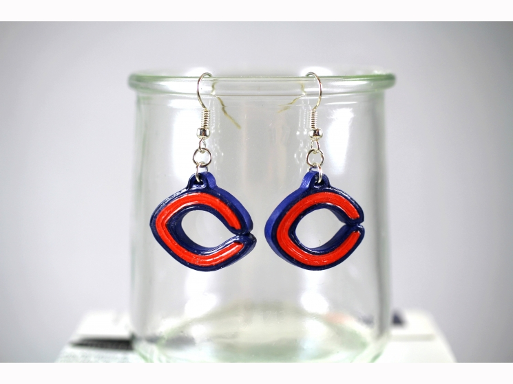 Chicago c earrings, Chicago gift, Chicago sports, Chicago girl, Chicago women