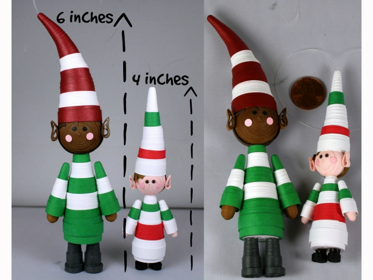 handmade decorations, Christmas tree ornament, girl elf, elf girl, black girl