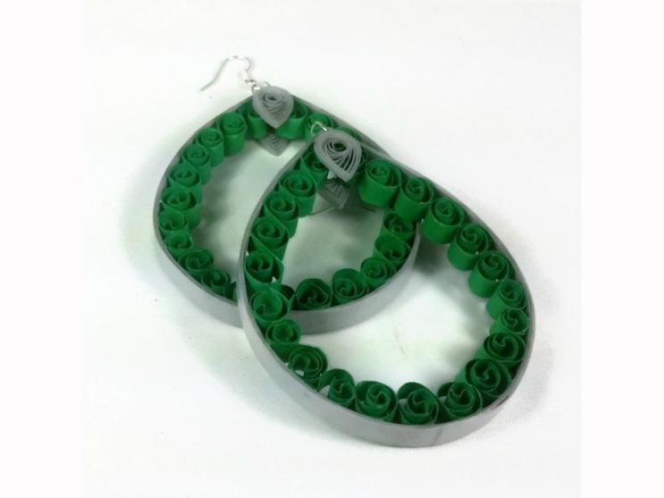 sale earrings, sale jewelry, sale jewellery, huge hoop earrings, green hoops