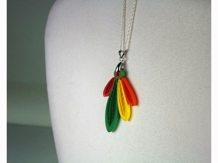 blackhawks four feathers, blackhawks jewelry, Chicago jewelry, Chicago necklace