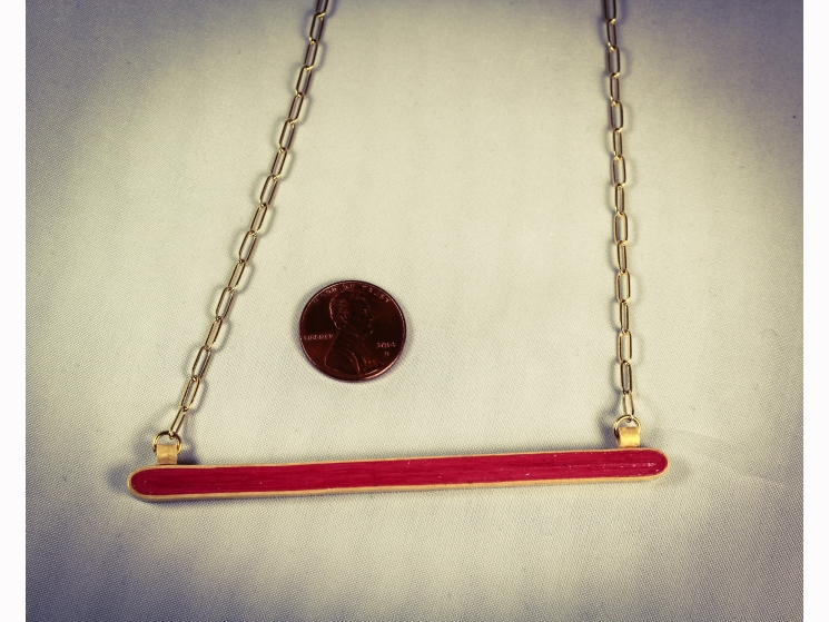 1st anniversary, grenadine red, eco friendly necklace, eco chic necklace