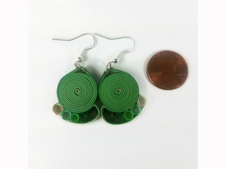 paper quilling, paper quilled jewelry, paper quill earrings, handmade earrings
