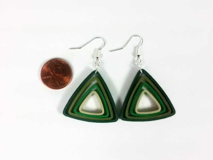first anniversary, 1st anniversary, lightweight earrings, unique earrings, ombre