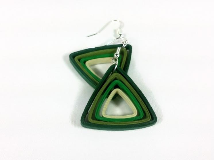 modern earrings, eco friendly earrings, eco chic earrings, handmade earrings