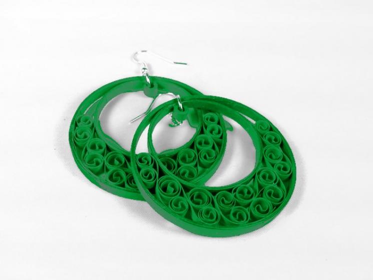custom color earrings, custom jewelry, chicago maker, handmade earrings, ecochic