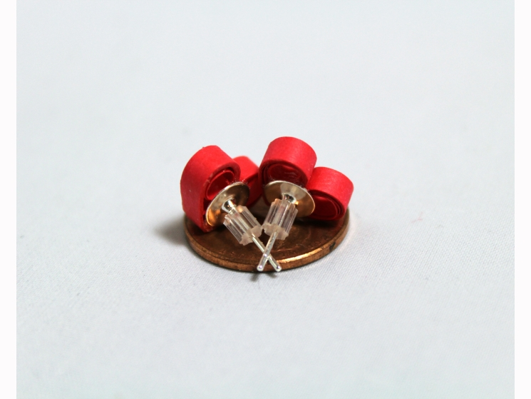 quill heart earrings, color choices, multiple colors, different colors
