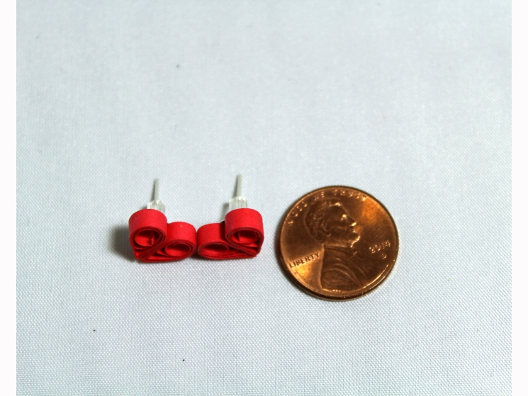 silver post earrings, minimal earring, small heart earring, little heart earring