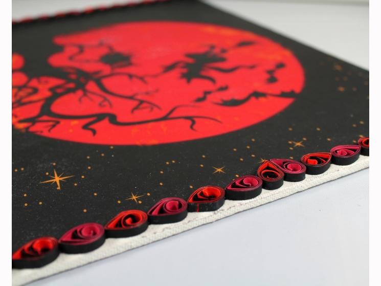 witch decoration, Halloween art print, Halloween home decor, Halloween wall art