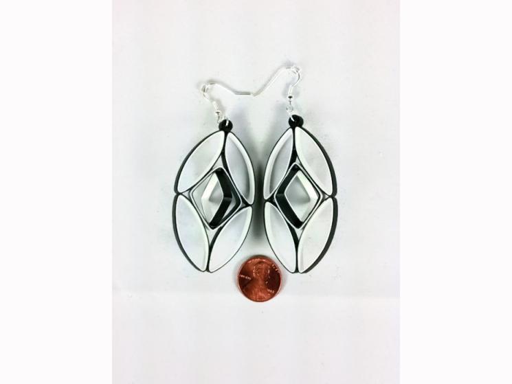 paper earrings, large earrings, red statement earrings, paper earrings