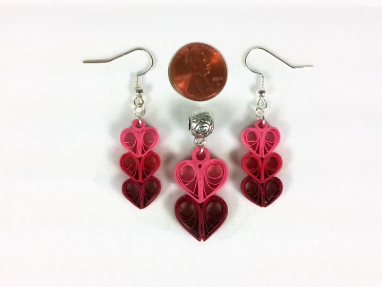 handmade jewelry, handmade earrings, valentines day gift, gift for her