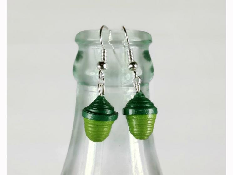 paper jewellery, fall earrings, autumn earrings, fall fashion, autumn fashion