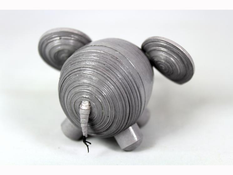 elephant statuette, small elephant, paper elephant, elephant figurine