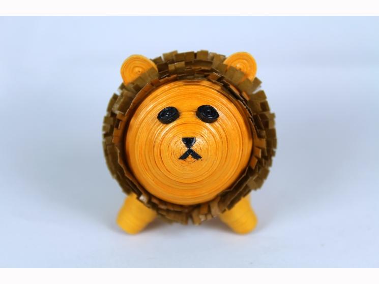 Lion Figurine, Paper Quilling Art, lion figurine, lion ornament, Leo lion