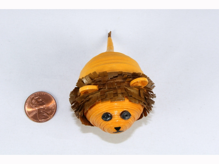 paper quilled lion, animal figurine, cute lion, lion lover, animal lover, lion