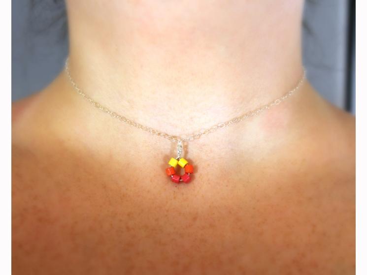 dainty choker necklace, sterling silver choker, minimal choker necklace