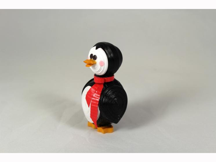 penguin figurine, penguin lover, paper quilling ornament, paper quill animal