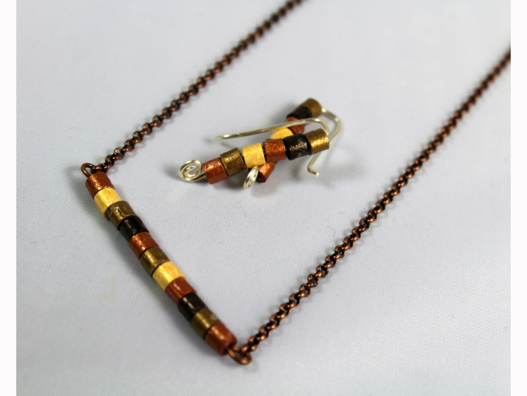 quill jewelry, eco-friendly jewelry, eco-friendly jewelry set, handmade jewelry