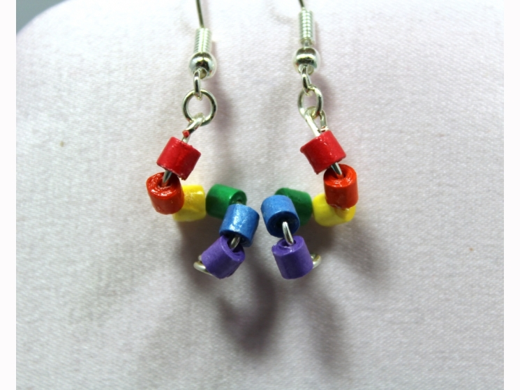 minimalist jewelry, eco friendly earrings, eco friendly jewelry, quilling paper