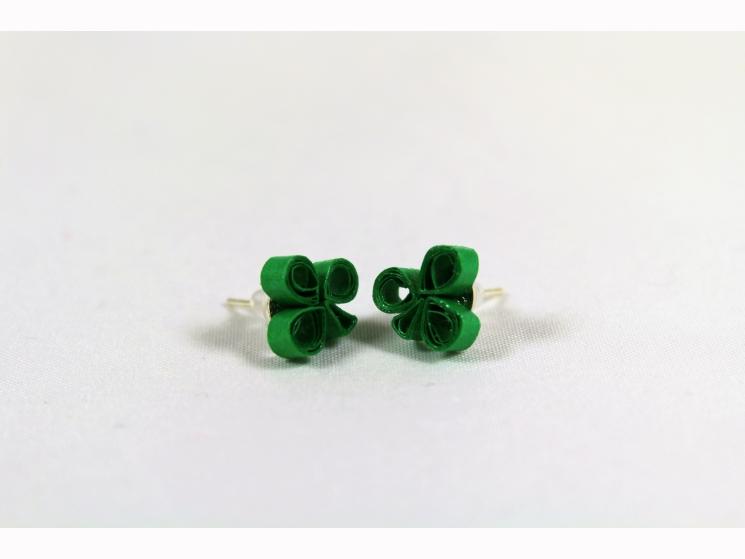 handmade clover earrings, handmade in chicago, made in chicago, chicago irish
