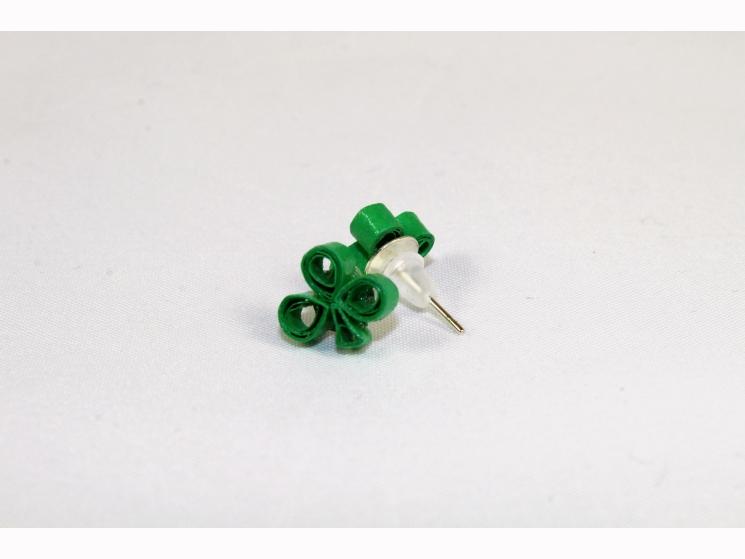 shamrock post earrings, silver posts, clover studs, clover stud earrings