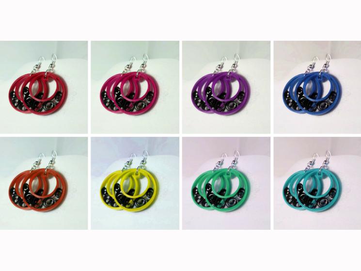 half moon earrings, small hoop earrings, filigree earrings, half moon hoops