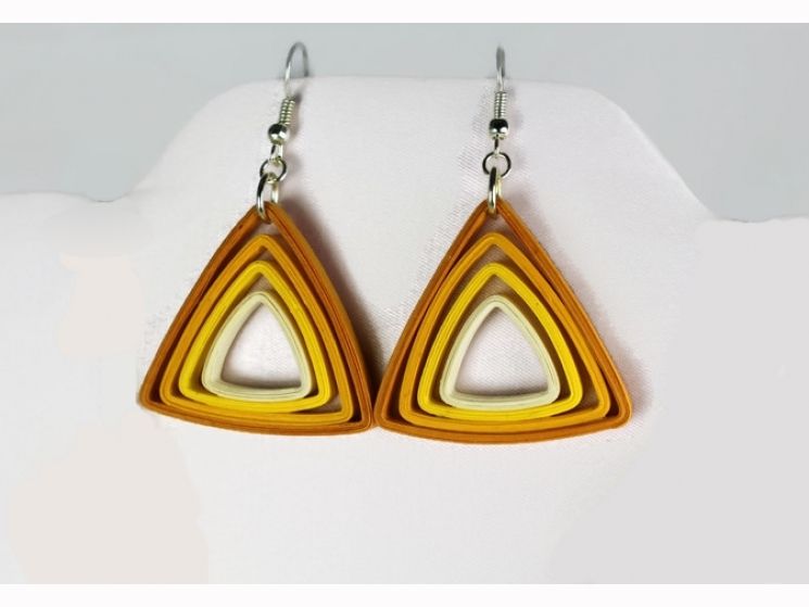paper earrings, quilling earrings, paper anniversary gift, gift of paper