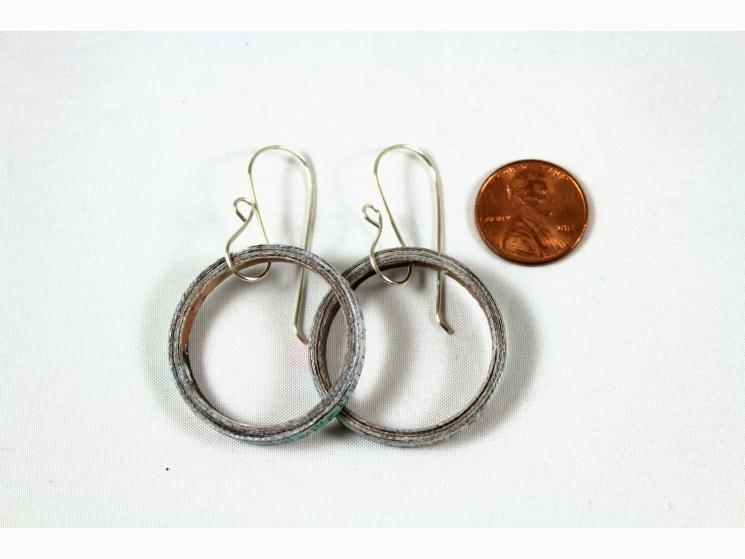 dangle hoop earrings, artisan earwires, sterling silver earwires, sterling hooks