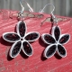 paper quilled daisy flower earrings, paper quilling earrings, daisy earrings