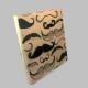 mustache wood print, hipster gift, mustache wall art, mustache decoration