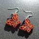 paper butterfly earrings, eco friendly butterfly earrings, butterfly jewelry
