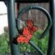 girls earrings, orange and black butterfly earrings, black and orange butterfly