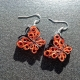 handmade butterfly earrings, handmade butterfly jewelry, butterfly lover