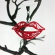 red kiss jewelry, red lips jewelry, red kiss necklace, red kiss pendant