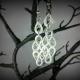 wedding jewelry, quilled bridal earrings, bridal earrings, bride earrings
