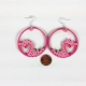 quilling heart earrings, unique jewelry, unique gift, gift for her, pink jewelry