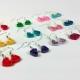 small hearts, many colors, wedding colors, simple earrings, minimal earrings