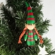 Christmas elf decoration, quilling elf, cute Christmas ornament, standing elf