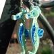 sea horse, beach style, beach fashion, blue and green, sea foam green, beachwear