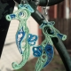 paper quilling seahorse earrings, seahorse jewelry, seahorse jewellery