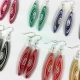 bridesmaid earrings, handmade dangle earrings, pick your color earrings, wedding