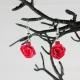gift for wife, bridesmaid gift, handmade rose earrings, ecofriendly rose earring
