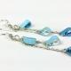 blue drop earrings, blue tears earrings, blue tear drop earrings, silver chain