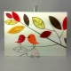 love birds canvas, paper anniversary gift, gift for him, cotton anniversary gift