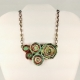 upcycled jewelry, recycled jewelry, paper necklace OOAK, one of a kind