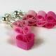 girls earrings, earrings for girls, gift for girl, three hearts earrings