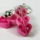 paper quilling earrings, quilled hearts, unpierced earrings, unpierced ears