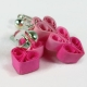 triple hearts, pink hearts, three pink hearts, paper hearts, paper earrings