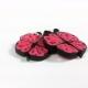 butterfly earrings, butterfly jewelry, paper jewelry, pink earrings